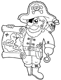Small Picture Pirate treasure map coloring page to print and free download