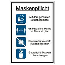Ministerpräsident markus söder kündigte die änderungen am gestrigen dienstag nach einer kabinettssitzung in. Aktuelle Corona Schilder Piktogramme Maskenpflicht Seton