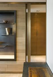 contemporary living room with decorative metal wall panels