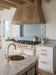 blue and white kitchen tiles turquoise blue subay tile behind range in gorgeous kitchen with rustic blue and white kitchen tiles