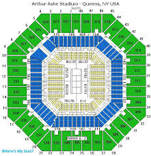 Us Open Arthur Ashe Seating Chart Arthur Ashe Stadium Queens Ny Travel Adventure Travel