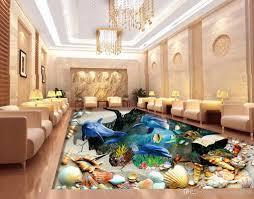 Großhandel Benutzerdefinierte Pvc Bodenbelag Rolle Ocean World 3d