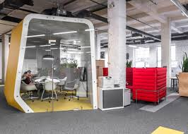 Office pods Acoustic Office Pods With Colourful Pods House Meeting Rooms In Offices By Za Bor Architects Interior Design Office Pods With Colourful Pods House Meeting Rooms In Offices By Za