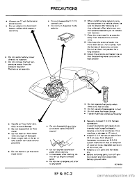Nissan 300zx 1984 z31 engine fuel and emission control system workshop manual
