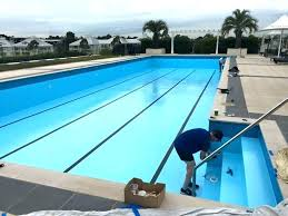 pool paint reviews epoxy the completed painted with in pacific smart seal i31