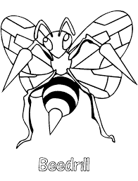 Small Picture Pokemon Coloring Pages Beedrill Coloring Pages