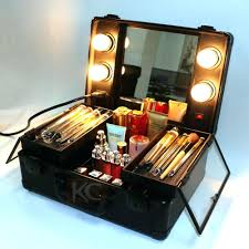 high quality small abs professional beauty box kit makeup light mirror vanity case cosmetic india