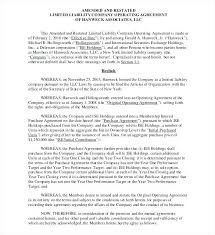 Partnership Agreement Free Template Classy Business Operating Agreement Template Partnership Operating