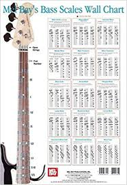bass scales wall chart bass scale wall chart corey christiansen 9780786667161