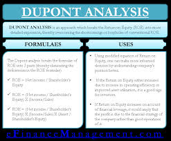Dupont Chart Definition Dupont Analysis Definition Calculate Roe Formula Uses