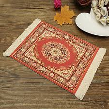 persian mini carpet mouse mat woven rug mouse pad rubber mat mousepad red 8 99 pic