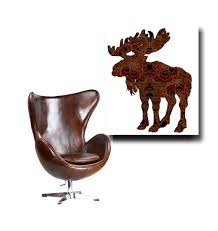 Moose Kitchen Decor Moose Painting Etsy