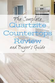 white quartzite countertops in modern kitchen design text overlay quartzite countertops review er s