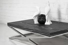 black and chrome furniture. Black Macassar Chrome X Leg Coffee Table And Furniture