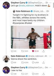 Did steph curry already know bradley beal had 50 before his game tipped tonight? Barstool Sports Steph Curry Just Knocked Out Nate Robinson Too Facebook