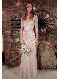 Unkonventionelle Brautkleider Halblange Rmel Halblang Und
