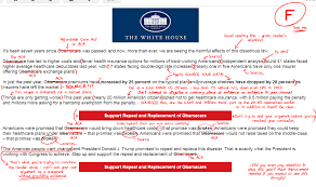 the white house sent me an email about trumps plans for american  and after struggling my way through it the spirit of my high school teachers rose up inside me and drove me to give it the essay treatment