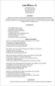 Truck Driver Resume Format Resume Template Easy Http Www