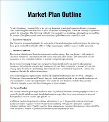 marketing plan outline template marketing plan outline