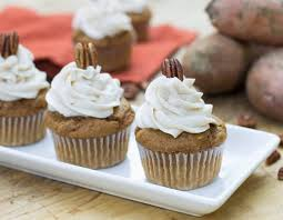 sweet potato cupcakes. Unique Potato Sweet Potato Cupcakes With Spiced Buttercream In T