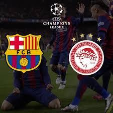 Resultat d'imatges de LOGOS FC BARCELONA VS OLYMPIACOS