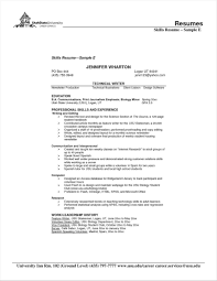 Examples Of Skills And Abilities For Resumes 10 Listing Skills On Resume Examples Payment Format