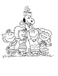 Peanuts Gang Coloring Page Free Printable Coloring Pages