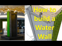 to build a shiny water wall on tiles