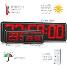 outdoor digital clock industrial led