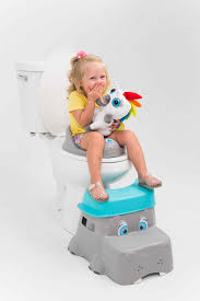 the hippo s nose doubles as a step allowing your children to safely and securely get on to the potty when they need to go
