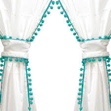 tianna pom pom curtain panel pair