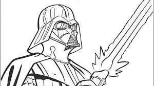 Small Picture Darth Vader With His Sword Free Coloring Page Kids Movies Star