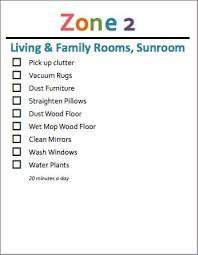 Zone Cleaning Chart For Kids Summer Zone Cleaning For Kids Grocery Shrink