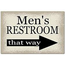 Bathroom sign for home Cute Image Unavailable Amazoncom Amazoncom Dyenamic Art Mens Bathroom Sign Arrow To The Right