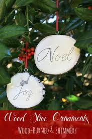 Handmade Wood Slice Christmas Ornaments