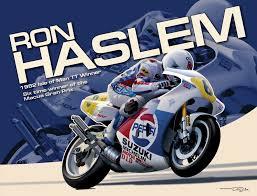 moto art. ron haslam - 500cc rider moto art