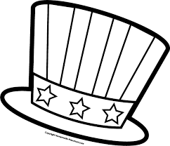 Small Picture July fourth hat coloring page for preschool Fun and Free July