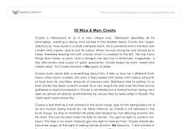 of mice men crooks analysis gcse english marked by document image preview