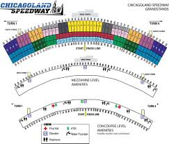 Homestead Seating Chart Maps Chicagoland Speedway