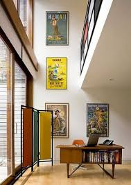 Vintage Hawaiian travel posters in the House Tour: Family-Friendly Modern   NYT House