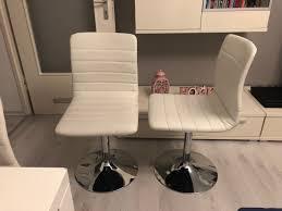 5 Weiße Esszimmer Stühle Kunstleder