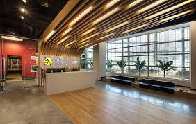 office reception layout ideas. Office \u0026 Workspace. Contemporary Reception And Waiting Lounge Area With Wood Lattice Decoration Minimalist Layout Ideas B