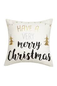 image of peking handicraft gold silver have a very merry printed pillow 16x16