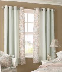 Decorations:Cool Curtain Bay Windows Living Room With Blue Floral Color Idea  Cool Curtain Bay