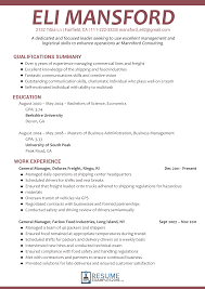 Impressive Management Resume Examples 2018