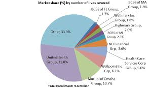 health insurance companies by size