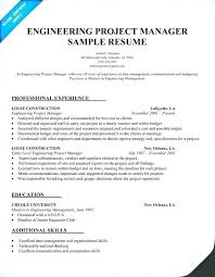 Construction Project Manager Resume Examples Enchanting Project Manager Sample Resume Sample Entry Level Project Manager