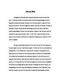 king lear essay gcse english marked by teachers com page 1 zoom in