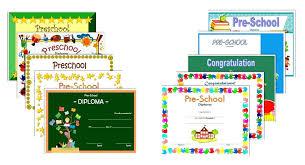 Preschool Diploma Certificate Editable Free Certificates