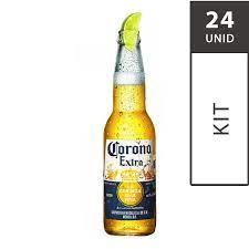 Cerveja Mexicana CORONA Garrafa 330ml - 24 Unidades